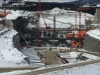 Construction of the Muskrat Falls hydroelectric generating facility in Labrador