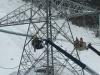 Crews working on the 1,100 km HVdc Labrador-Island Link in Labrador