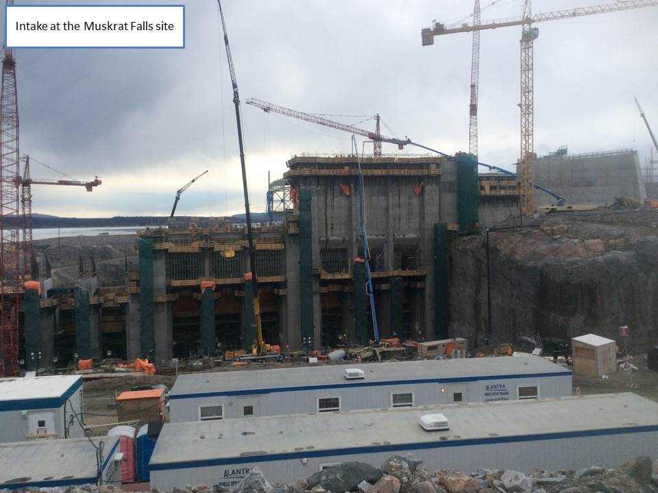 Intake at Muskrat Falls