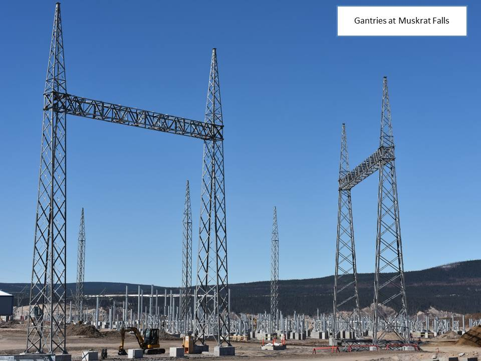 Gantries at Muskrat Falls