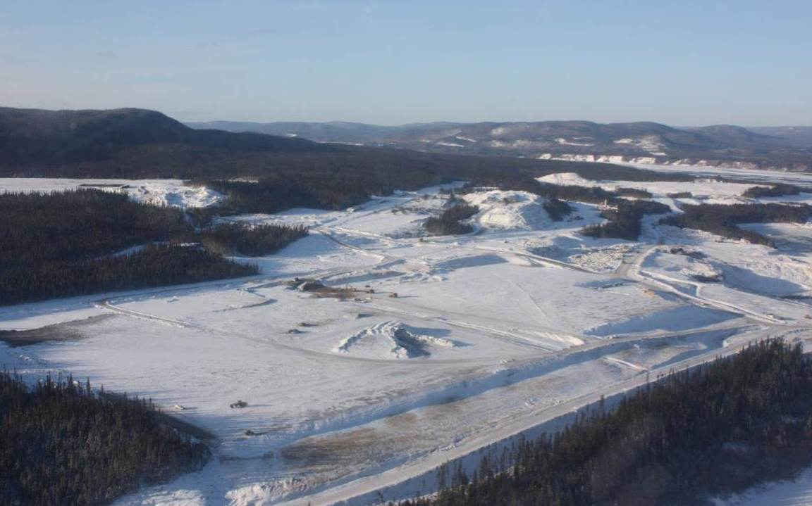 Muskrat Falls Converter-Switchyard Area