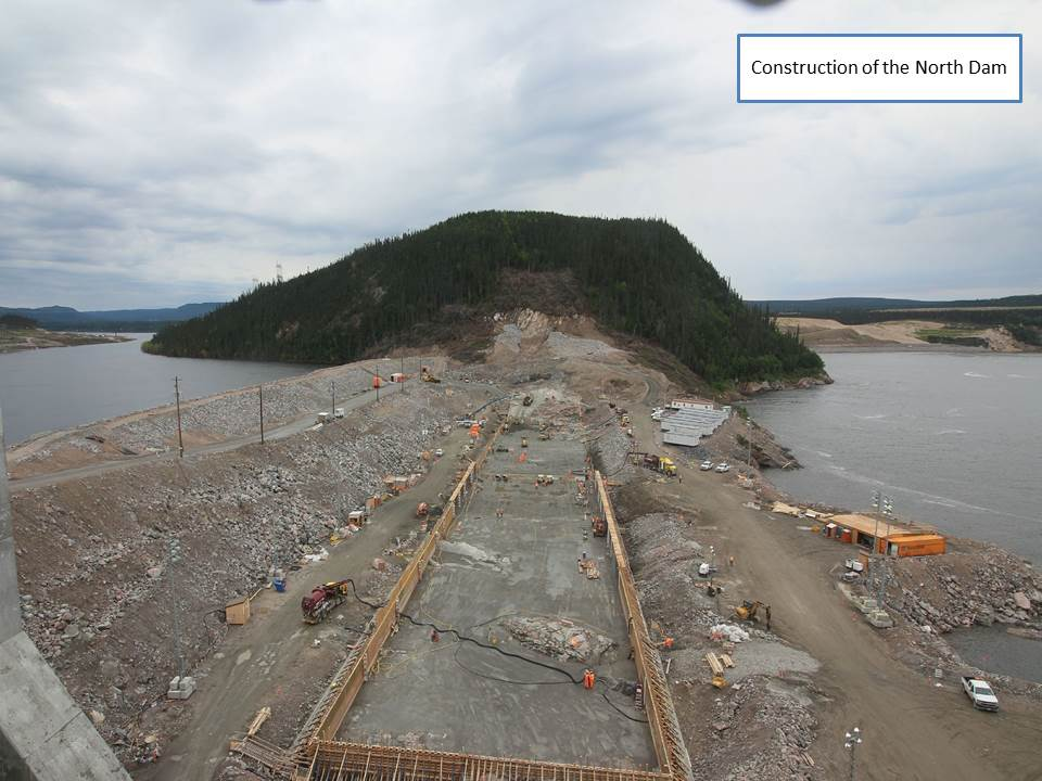 Construction of the North Dam