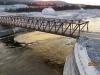 Temporary spillway bridge