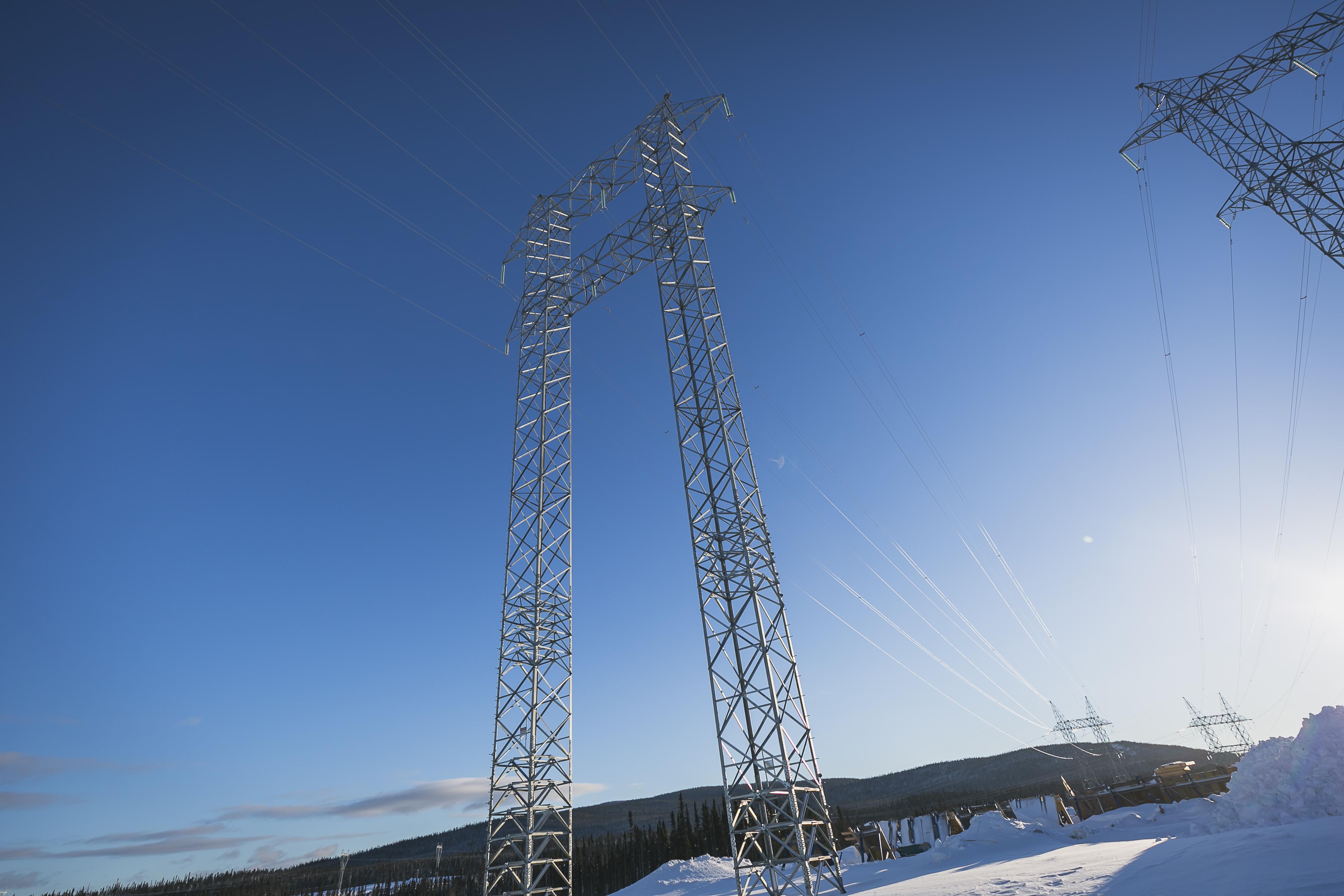 Transmission Lines at Muskrat Falls