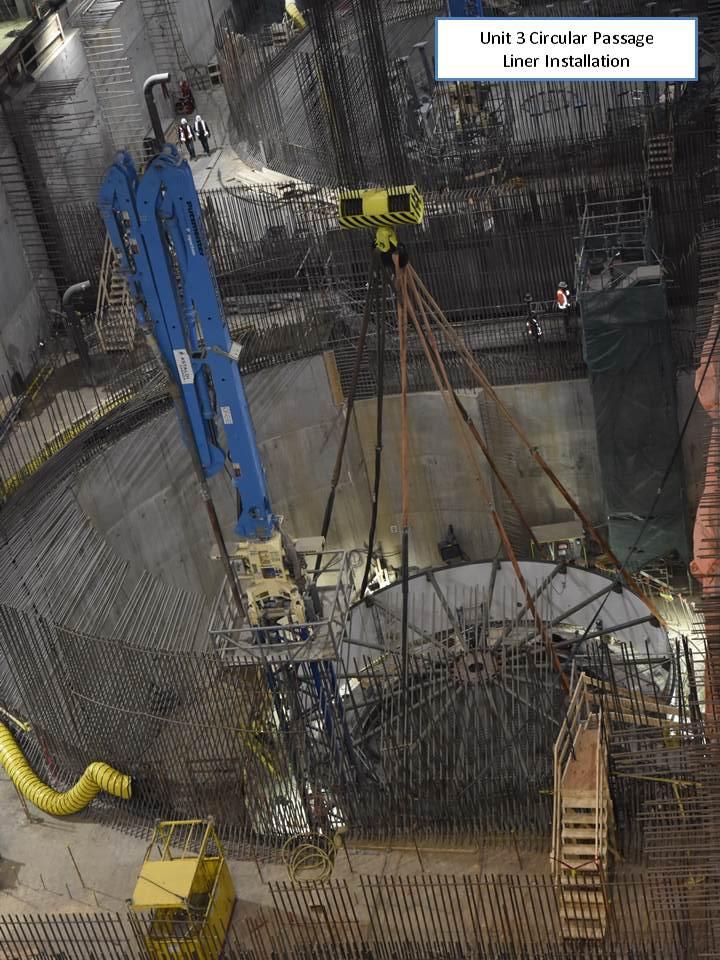 Unit 3 Circular Passage Liner Installation