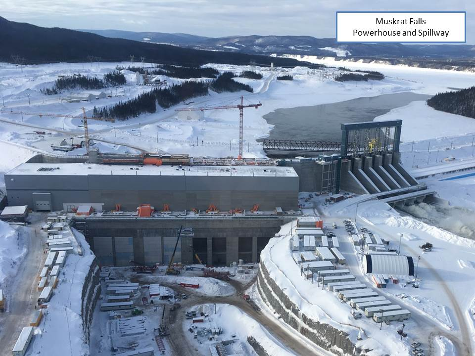 Muskrat Falls Powerhouse, Spillway and North Dam