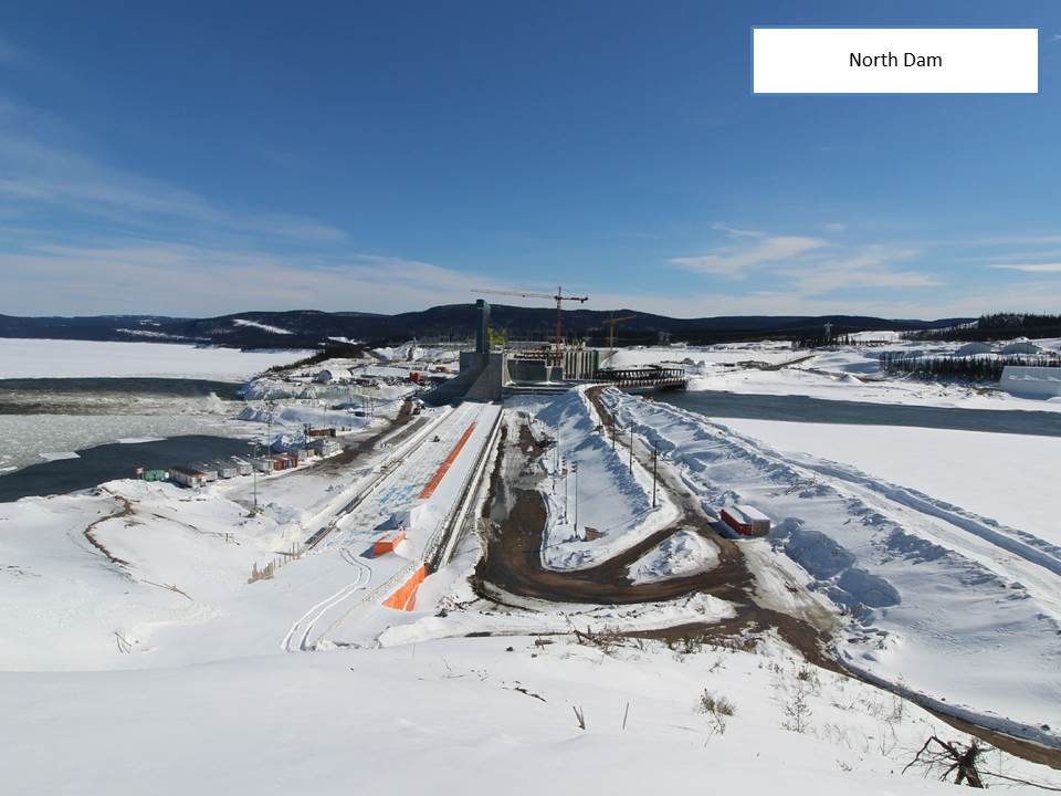 The North Dam at Muskrat Falls