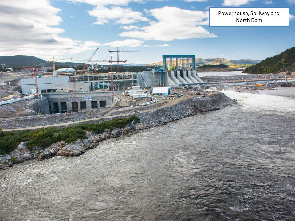 Powerhouse, Spillway and North Dam