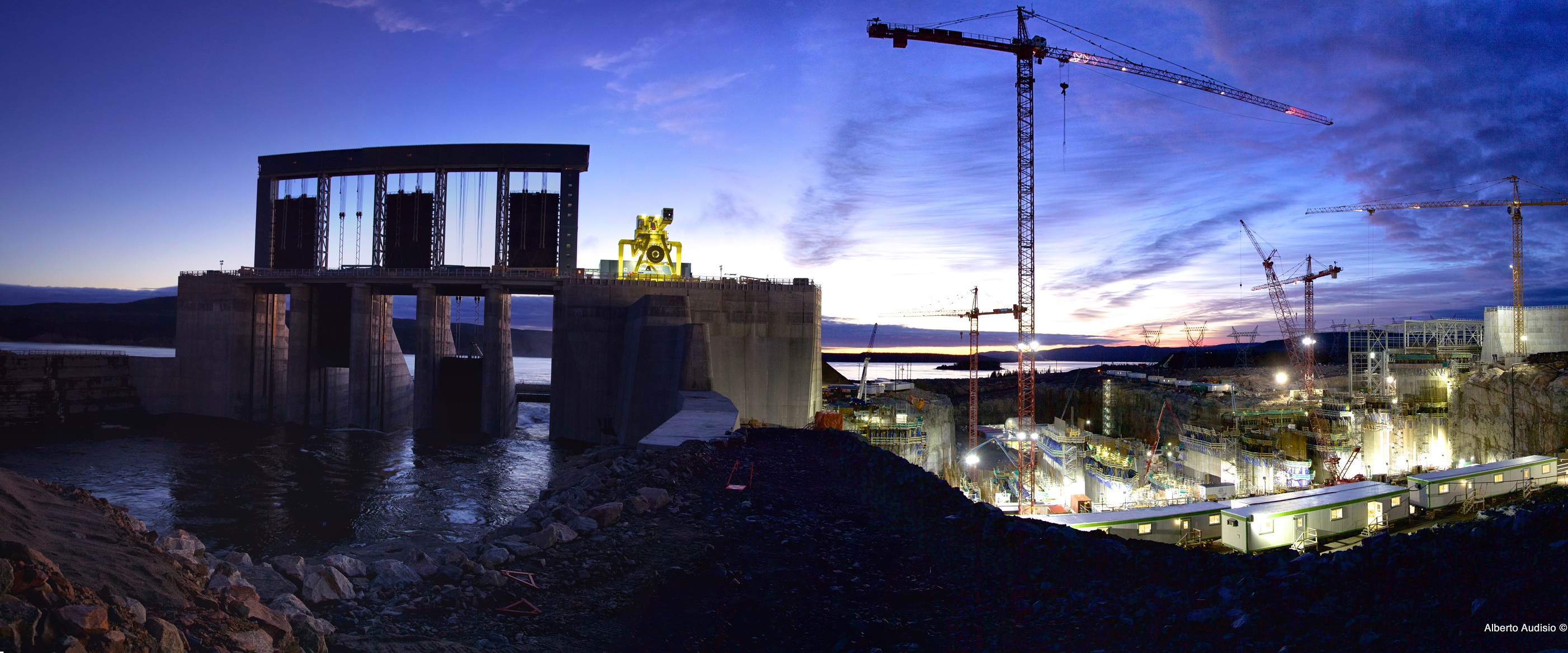 Spillway and Powerhouse at Night