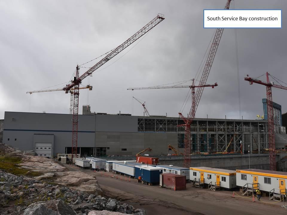 South Service Bay construction