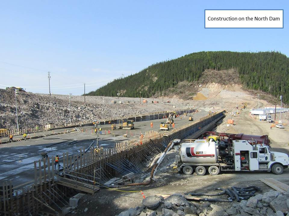Construction on the Noth Dam