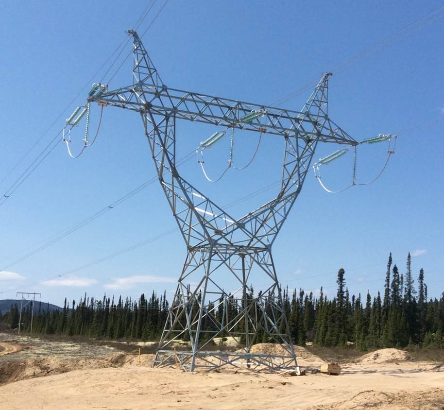 Completed construction of transmission tower, Labrador.jpg