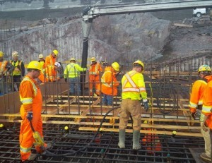 First spillway base slab pour Aug 17 2014_1_issued