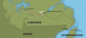 Transmission Line between Muskrat Falls and Churchill Falls, Labrador