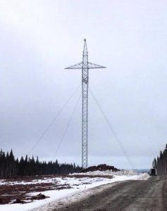 First transmission tower on island_Apr2016_Final