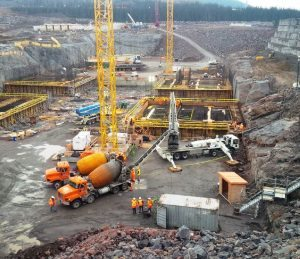 First spillway base slab pour Aug 17 2014_2_issued